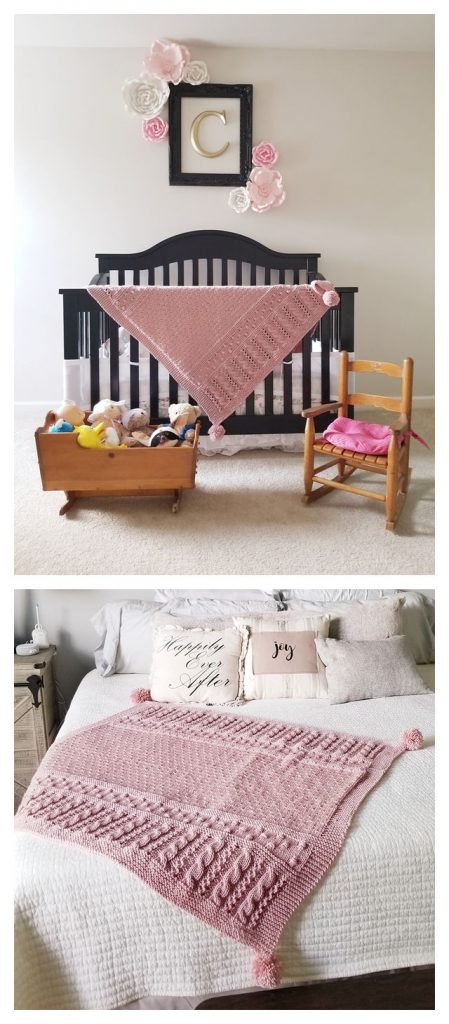 Claire's Blanket Free Knitting Pattern