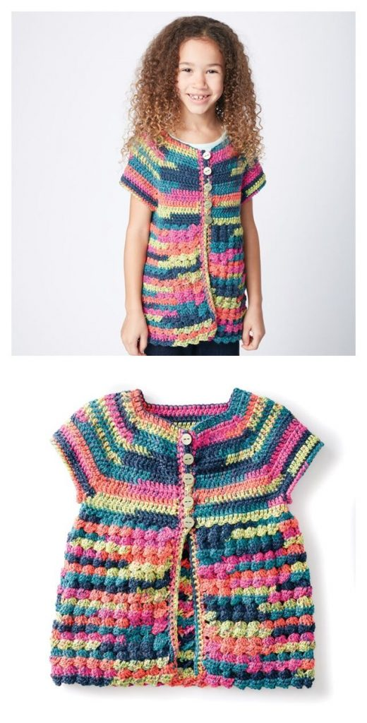 Easy Way Down Cardigan Free Crochet Pattern