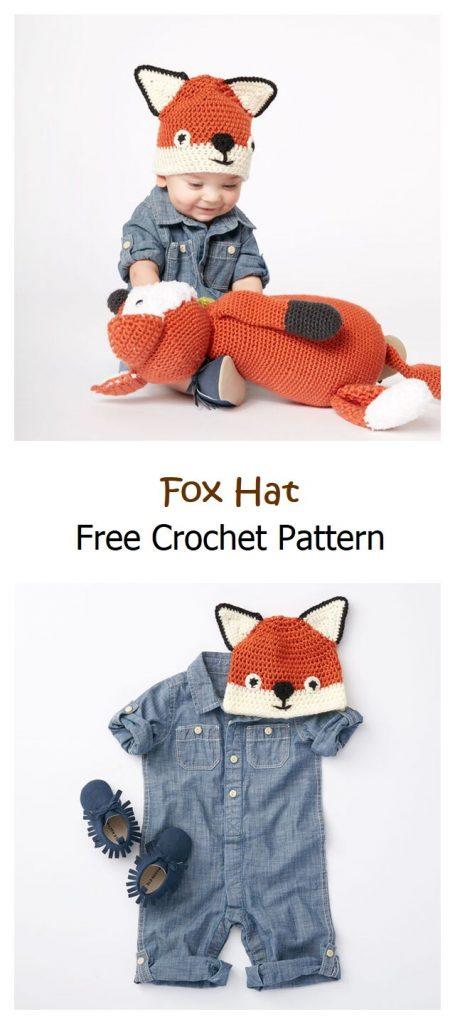 Fox Hat Free Crochet Pattern
