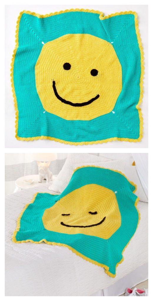 Happy Face Toddler Blanket Pattern
