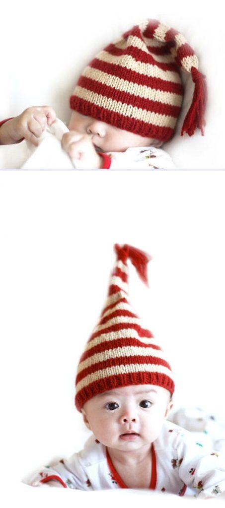 Holdiay Elf Hat Free Knitting Pattern