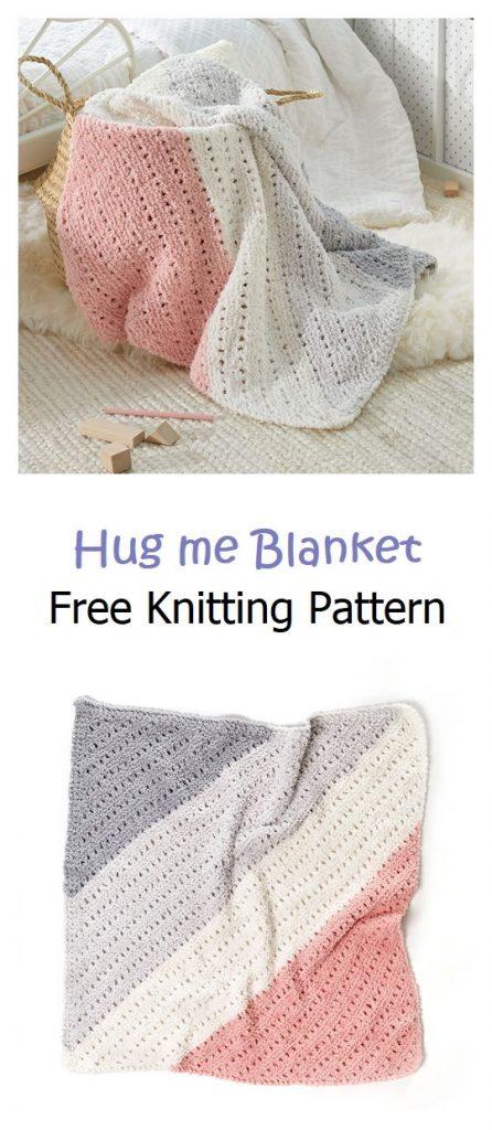 Hug me Blanket Free Knitting Pattern