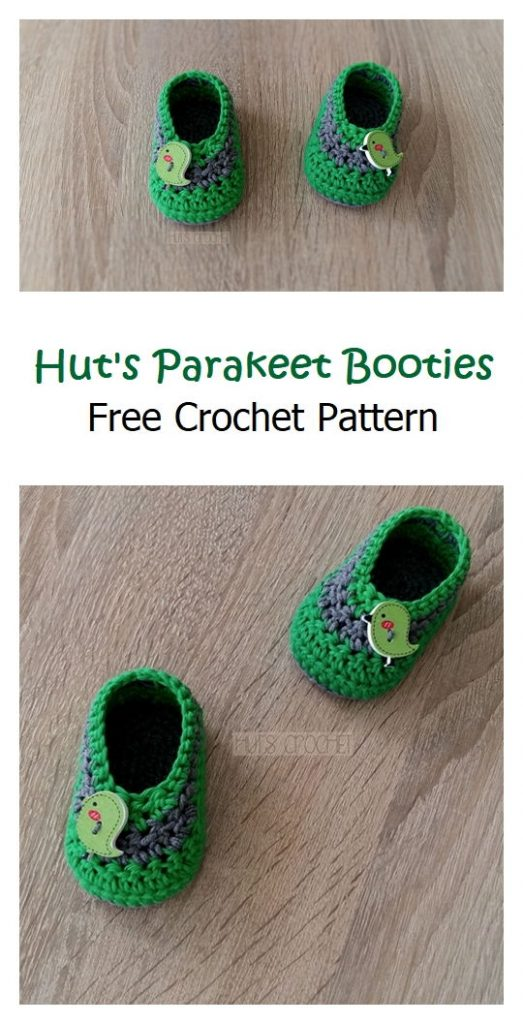 Hut's Parakeet Booties Pattern