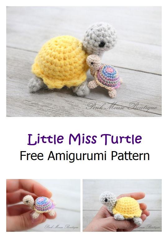 Little Miss Turtle Free Amigurumi Pattern