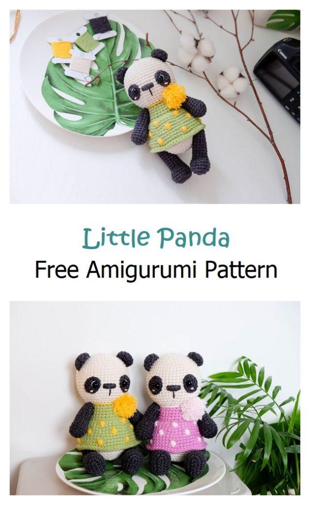 Little Panda Free Amigurumi Pattern