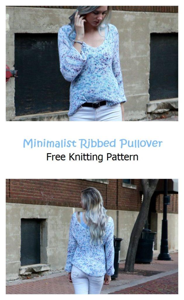Minimalist Ribbed Pullover Pattern