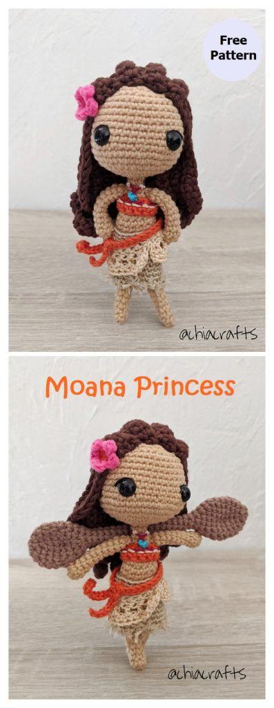 Moana Princess Free Amigurumi Pattern