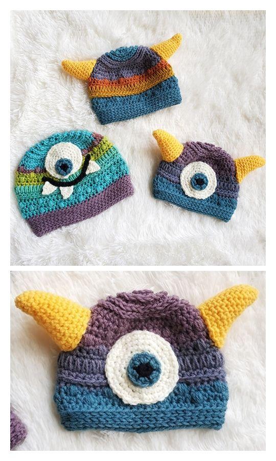 Monster Baby Beanie Hat Pattern