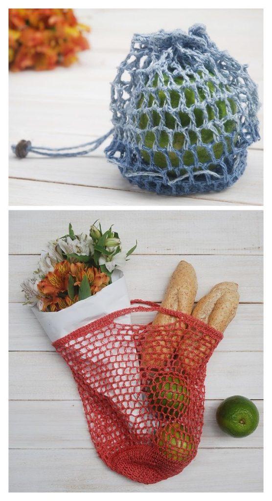 Pocket Shopping Bag Free Crochet Pattern