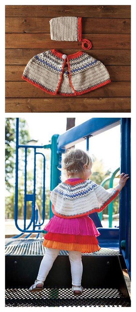 Bouquet Poncho and Bonnet Set Pattern