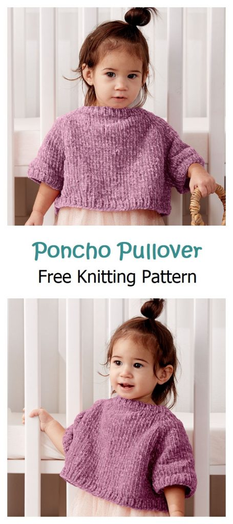 Poncho Pullover Free Knitting Pattern
