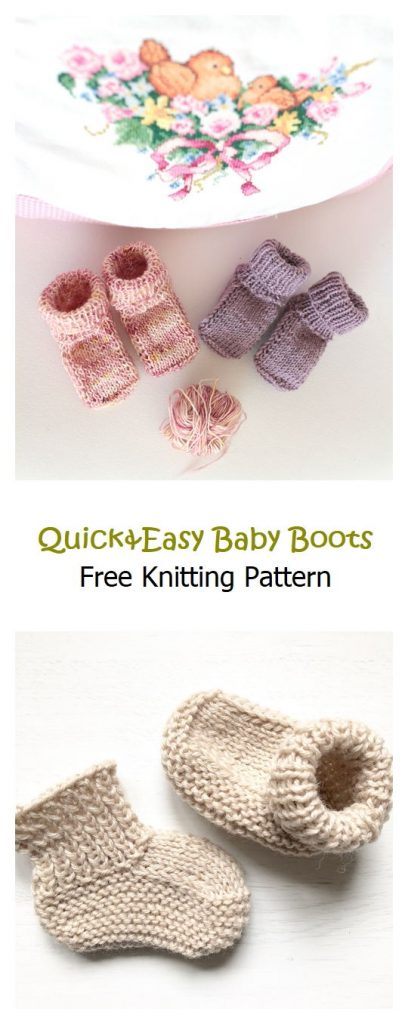 Quick&Easy Baby Boots Pattern