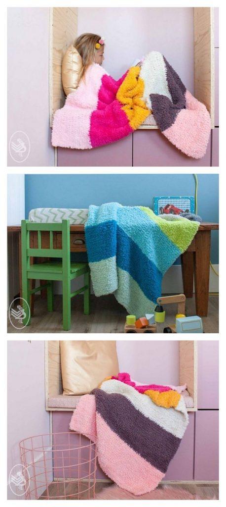 Soft & Teddy Blanket Free Crochet Pattern