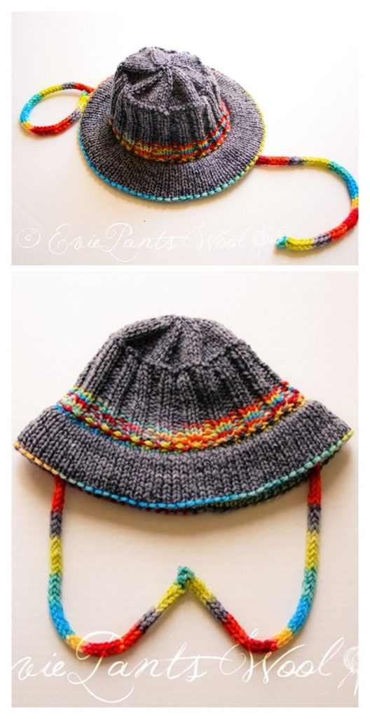 Sun Hat Free Knitting Pattern
