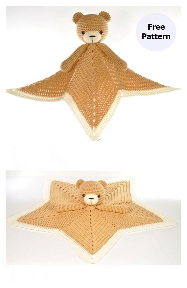 Teddy Bear Blanket Free Crochet Pattern