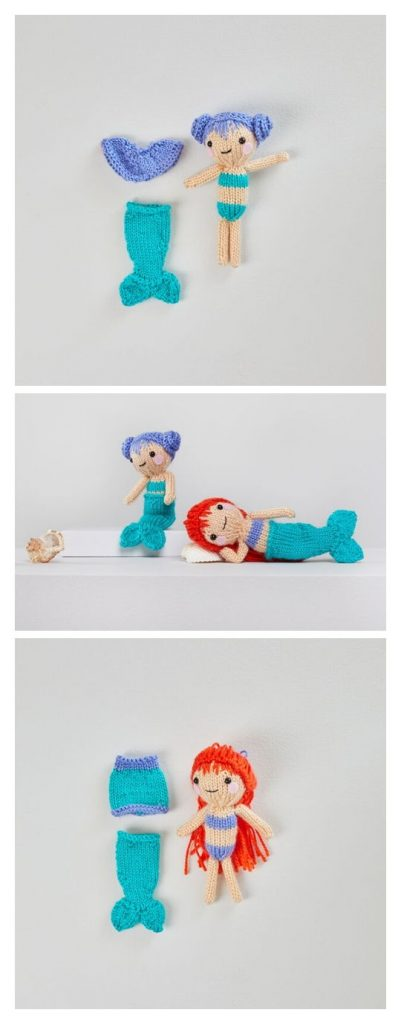 Tina & Nina Mermaid Free Knitting Pattern
