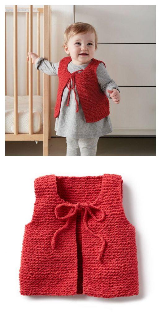 Wee Vest Free Knitting Pattern