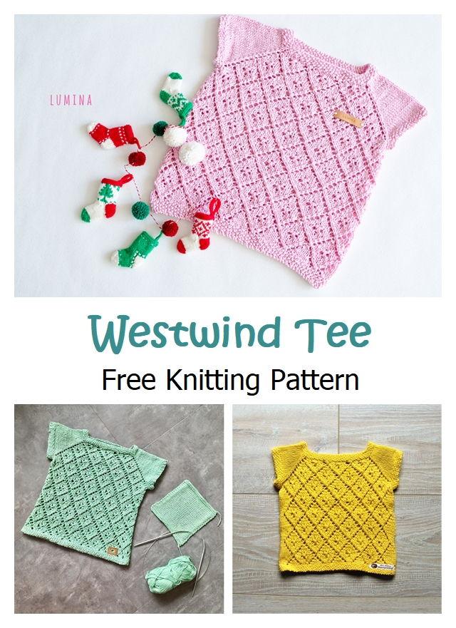 Westwind Tee Free Knitting Pattern