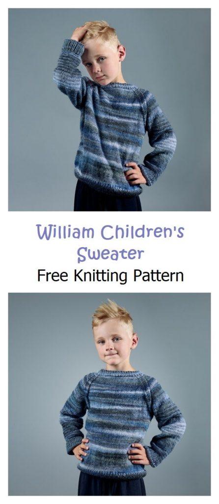 William Children's Sweater Free Knitting Pattern