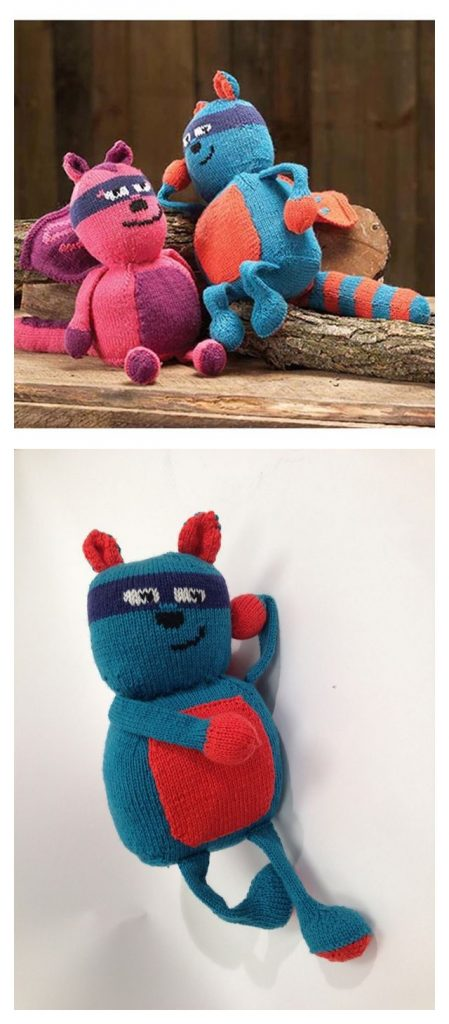 Woodland Superheroes Free Knitting Pattern