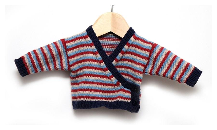 Baby Wrap Cardigan Free Knitting Pattern
