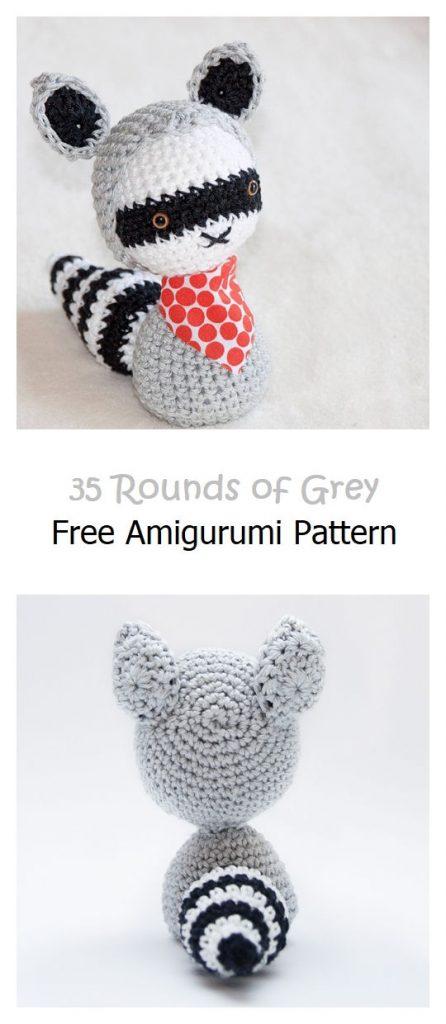 35 Rounds of Grey Free Amigurumi Pattern