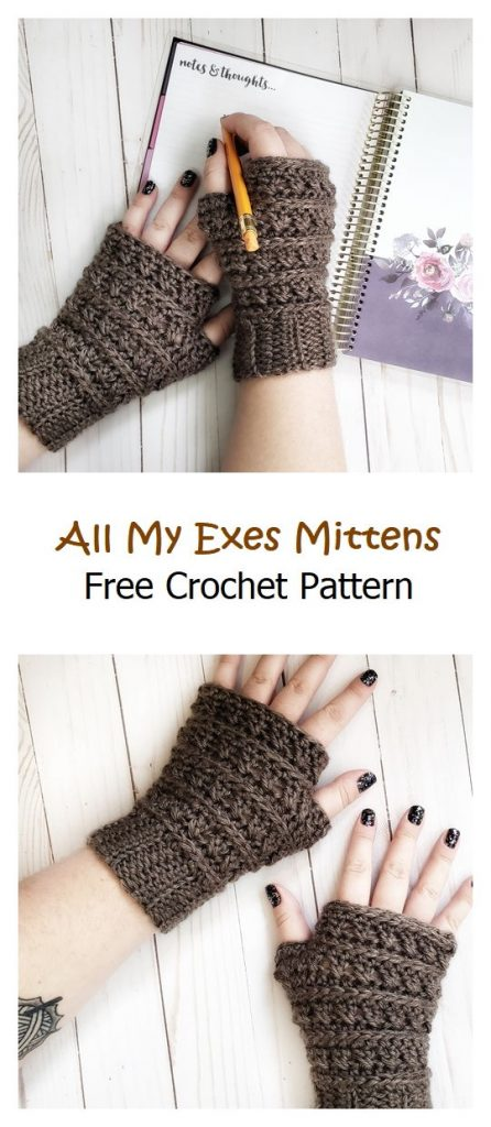 All My Exes Fingerless Mittens Free Pattern