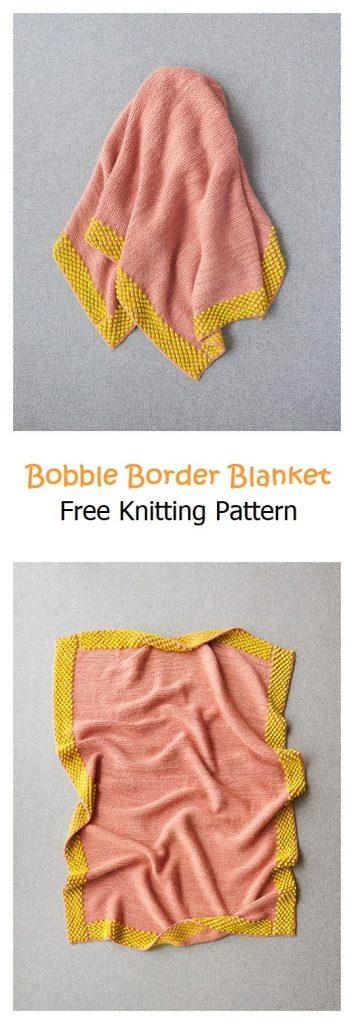 Bobble Border Blanket Free Knitting Pattern