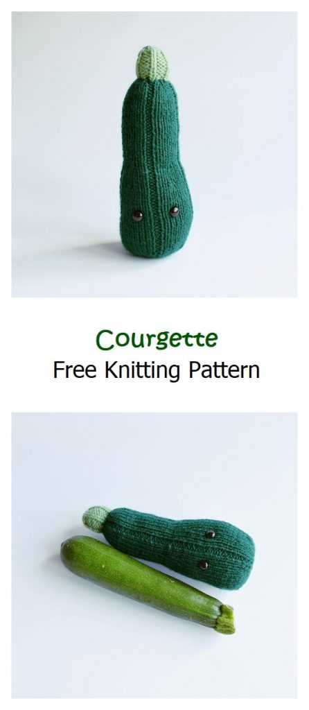 Courgette Free Knitting Pattern