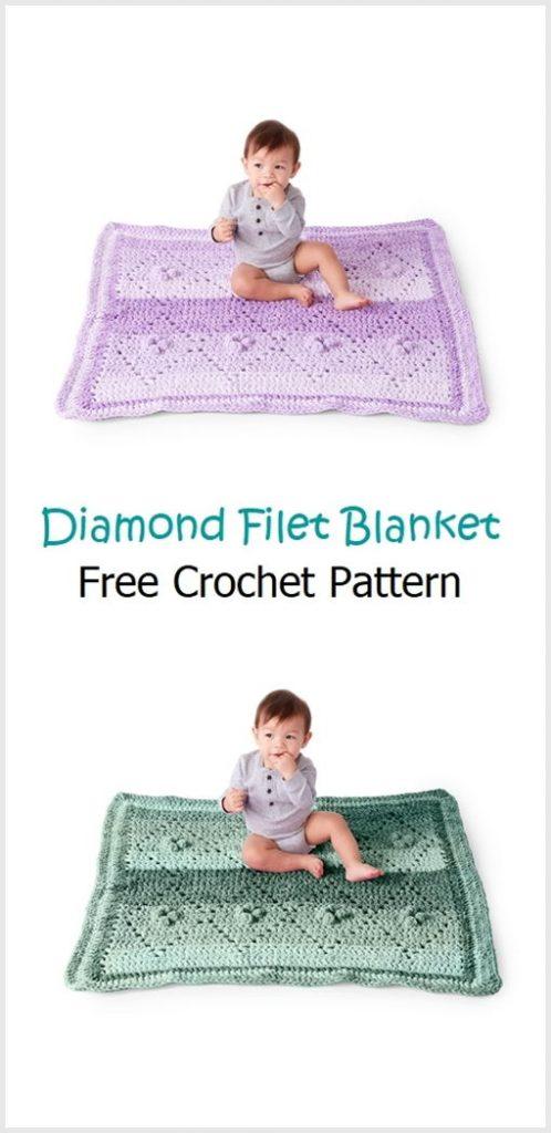 Diamond Filet Blanket Pattern