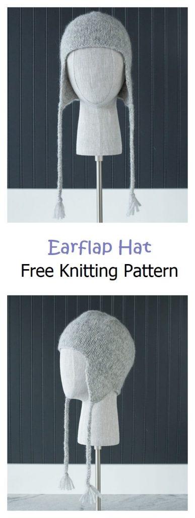 Earflap Hat Free Knitting Pattern