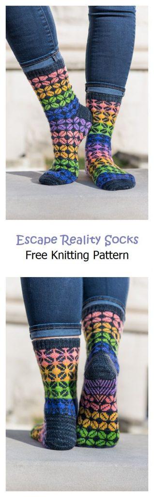 Escape Reality Socks Free Knitting Pattern