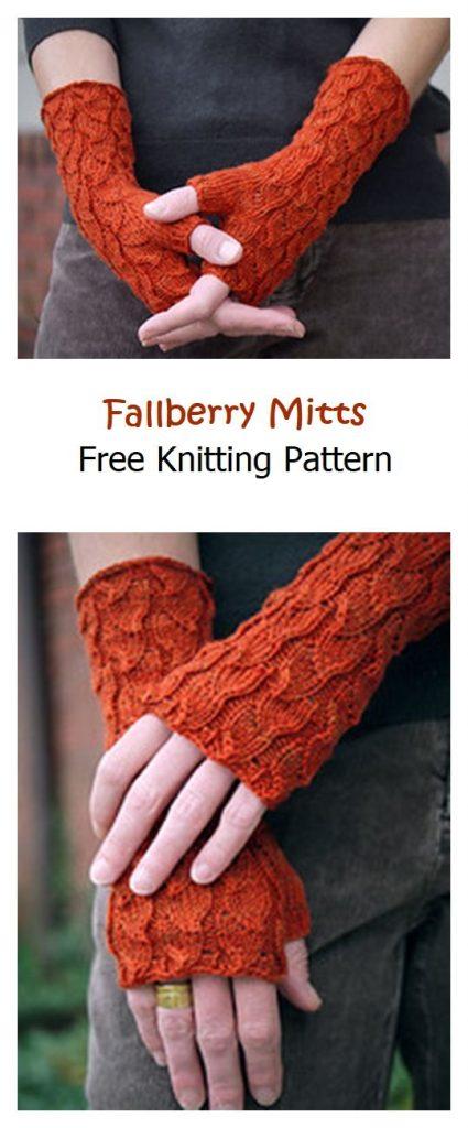 Fallberry Mitts Free Knitting Pattern