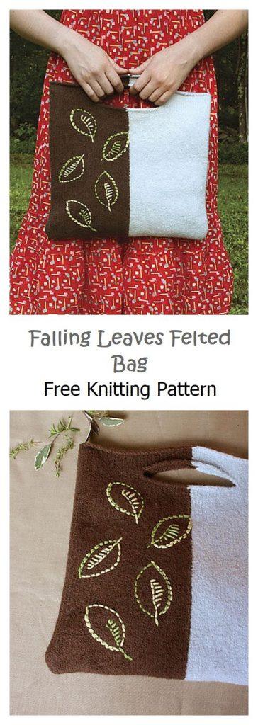 Falling Leaves Felted Bag Pattern