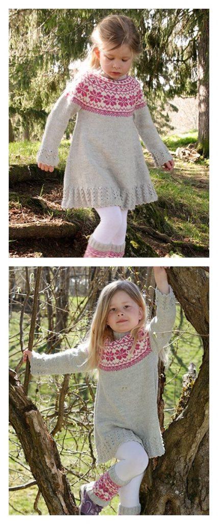 Forest Dance Dress Free Knitting Pattern