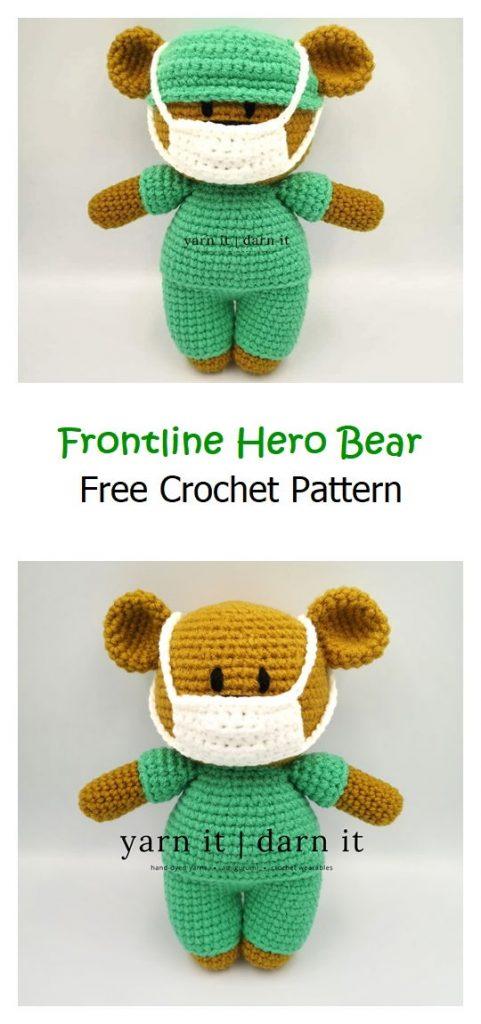 Frontline Hero Bear Free Crochet Pattern