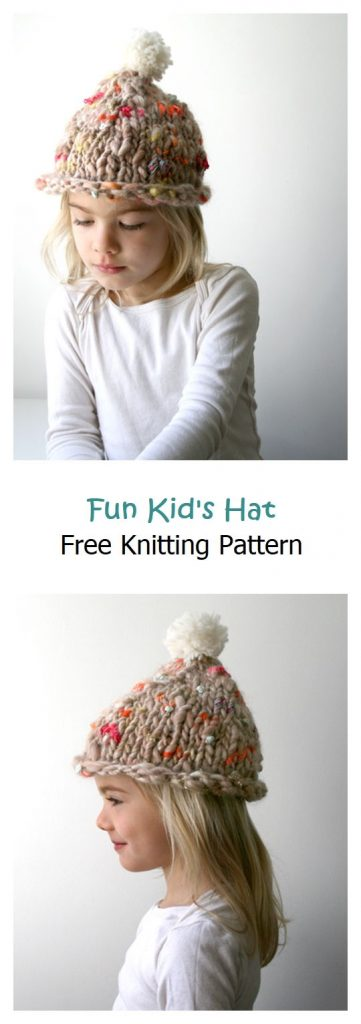 Fun Kid's Hat Free Knitting Pattern