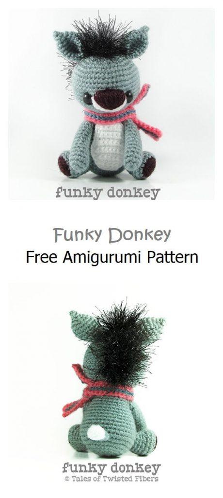 Funky Donkey Free Amigurumi Pattern
