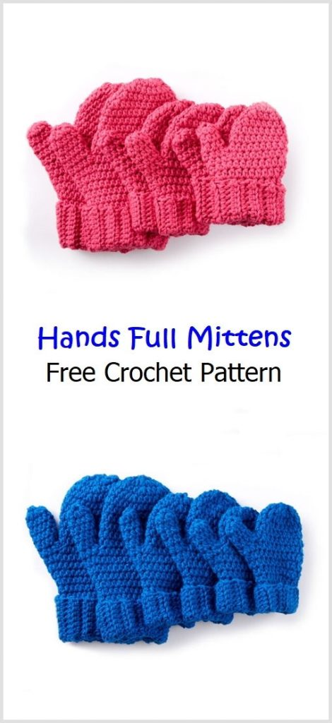 Hands Full Mittens Free Crochet Pattern