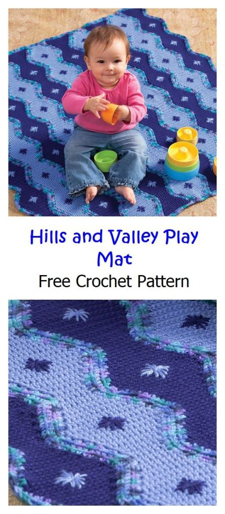 Hills and Valley Play Mat Free Pattern