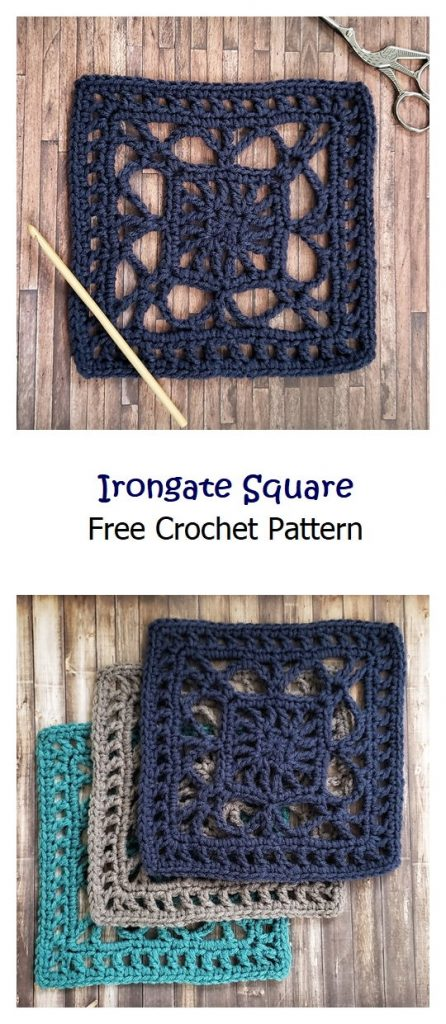 The Irongate Square Free Afghan Pattern