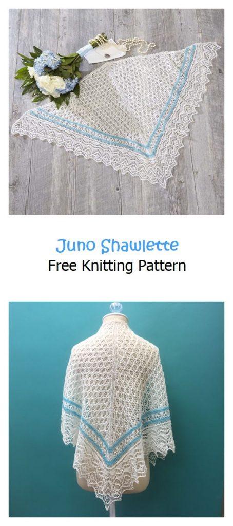 Juno Shawlette Free Knitting Pattern