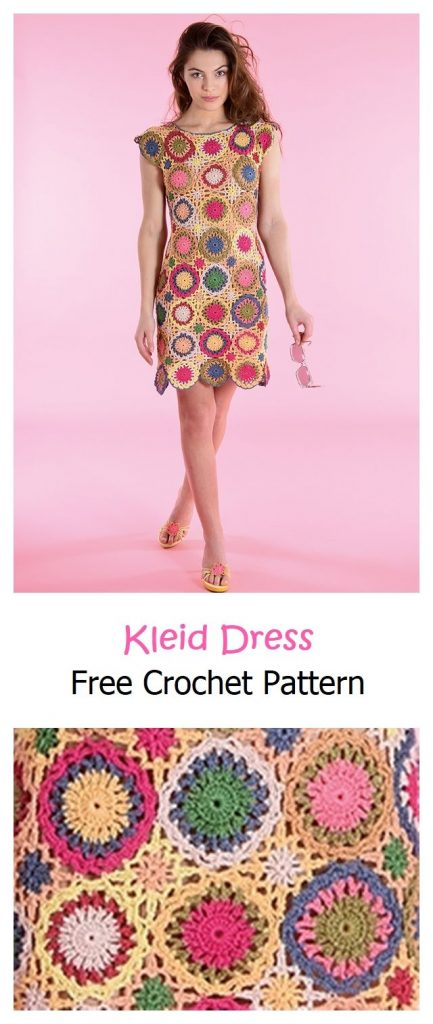 Kleid Dress Free Crochet Pattern