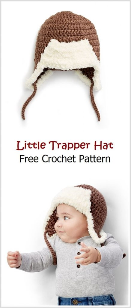 Little Trapper Hat Free Crochet Pattern