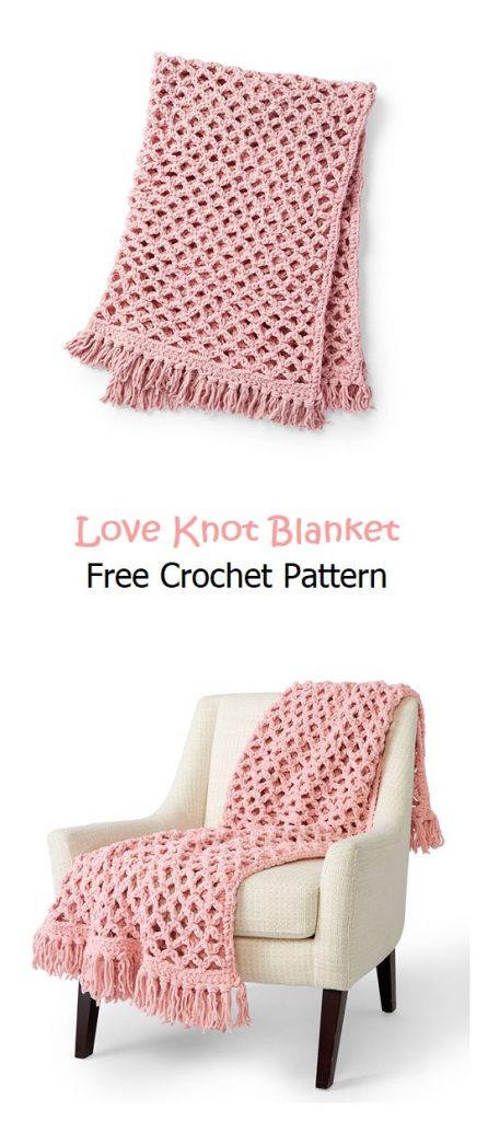 Love Knot Blanket Free Crochet Pattern