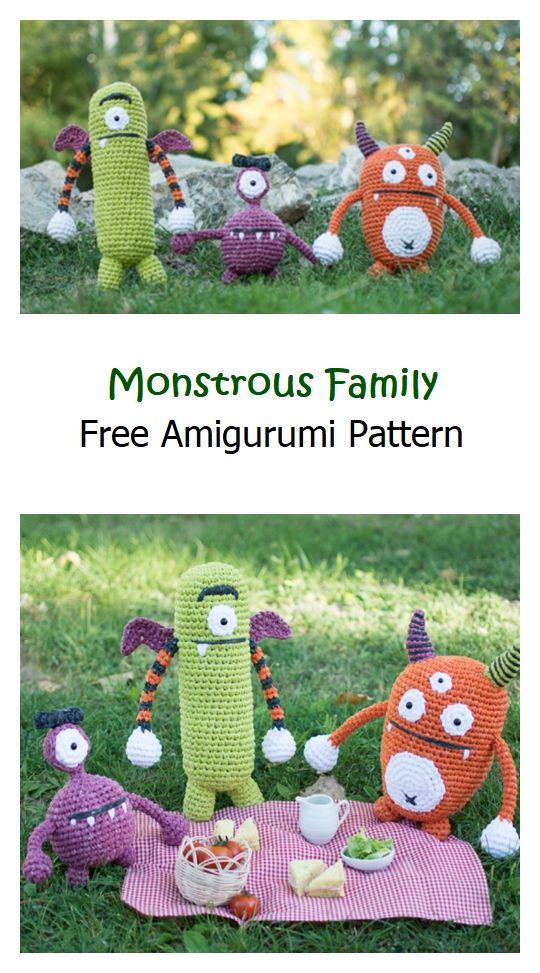 Monstrous Family Free Amigurumi Pattern