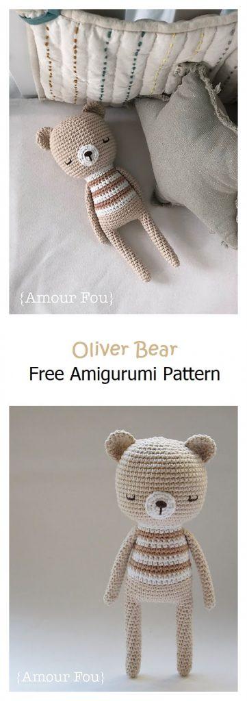 Oliver Bear Free Amigurumi Pattern