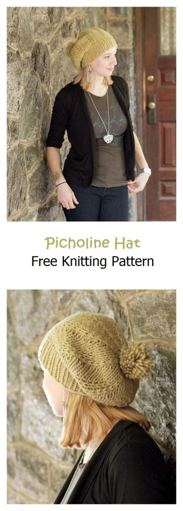 Picholine Hat Free Knitting Pattern