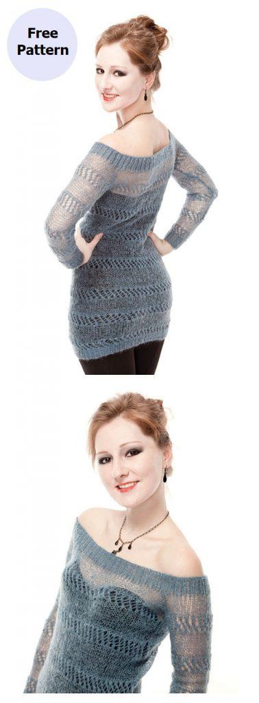 Precious Sweater Free Knitting Pattern