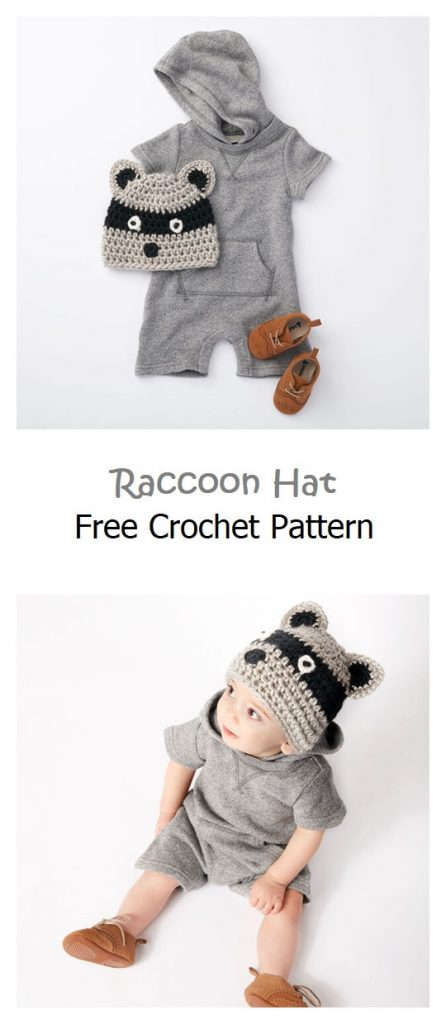 Raccoon Hat Free Crochet Pattern